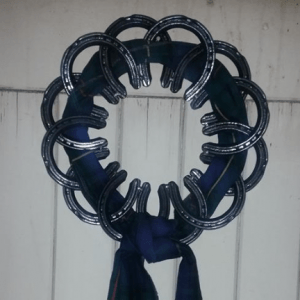 Handmade handcrafted Horseshoe gift why are horseshoe lucky Christmas wreath horse gifts for girls personalised gifts for horse lovers horse gifts party rental wedding decoration lucky horseshoe gifts for her