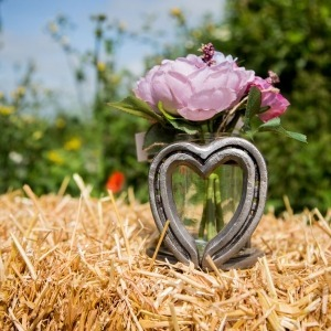 Heart vase holder rental, wedding rental, wedding gifts for equestrian , country wedding gift ideas