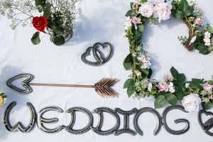 Horseshoe decorations wedding rental