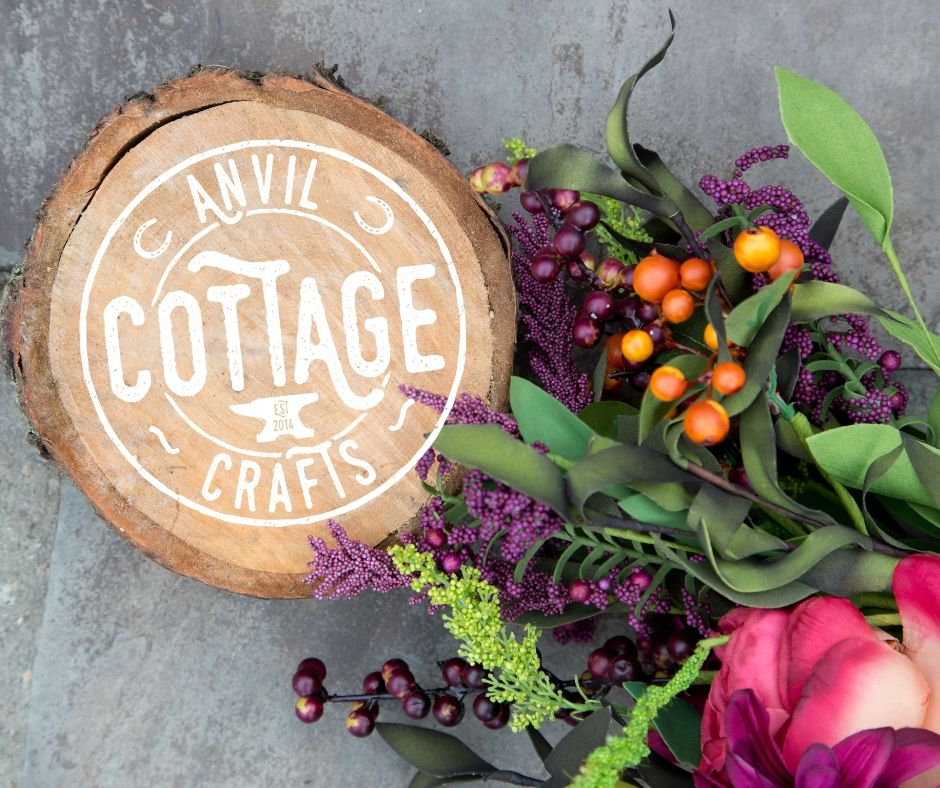 Anvil Cottage Crafts Logo & flowers